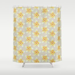Yellow Flower, Floral Pattern, Yellow Blossom Shower Curtain