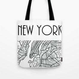 NEW YORK City, USA, Street Map & Coordinates Tote Bag