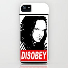 Disobey Davis iPhone Case