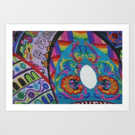 Up close - Guatemalan Kites Art Print