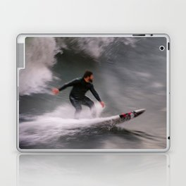 Surfer riding a wave Laptop & iPad Skin