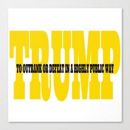 Trump Gold Definition Canvas Print