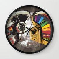 punk Wall Clocks featuring Punk by Digital Sketch