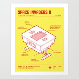 ARCADE CAB - SPACE INVADERS II Art Print