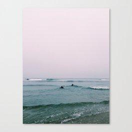 Foggy Paddle  Canvas Print