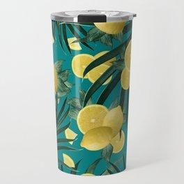Summer Lemon Twist Jungle #5 #tropical #decor #art #society6 Travel Mug