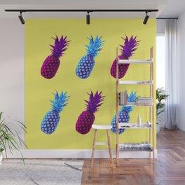 Neon Pineapple Wall Mural