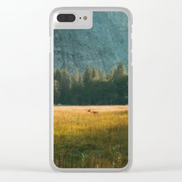 Meadow Sunset in Yosemite Clear iPhone Case