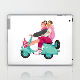 A Valentine with sneaker and Vespa Laptop & iPad Skin