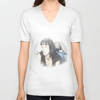 pulp fiction V-neck T-shirts featuring Pulp Fiction by EclipseLio