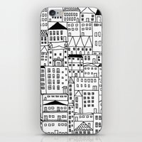 cityscape iPhone & iPod Skins featuring cityscape by Anna Grunduls