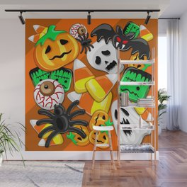 Halloween Spooky Candies Party Wall Mural