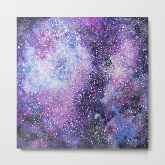 Space. Watercolor Metal Print