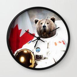 Astronaut Bear Wall Clock