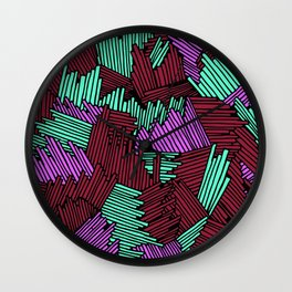 Happy Abstract Nr:03 Wall Clock