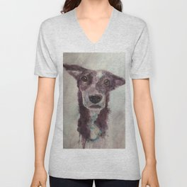 Parson, the cattle dog Unisex V-Neck