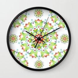 Firework Mandala Design Wall Clock