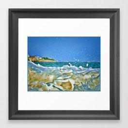 Close Wave!  Framed Art Print