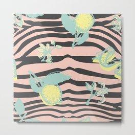 Citric zebra Metal Print