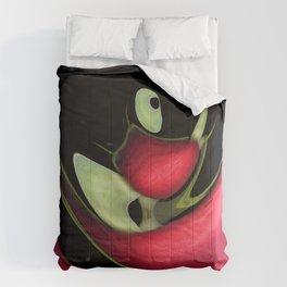 Rote Verzerrung Comforters