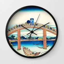 Tardis At The Bridge Wall Clock