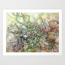 """Churning connectors; Flowing Zephyrs"" Art Print"