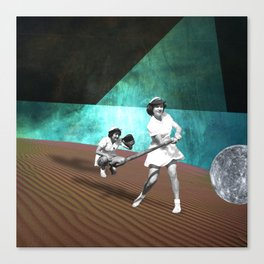 Touch Base Canvas Print