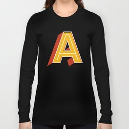 Letter A Long Sleeve T-shirt