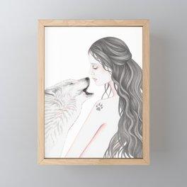 Wolf Song Framed Mini Art Print
