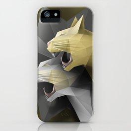 Geometric Cats iPhone Case