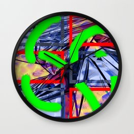 Collage with Mylar effect Wall Clock