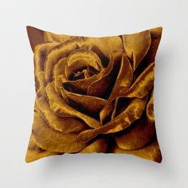 copper velvet rose Deko-Kissen