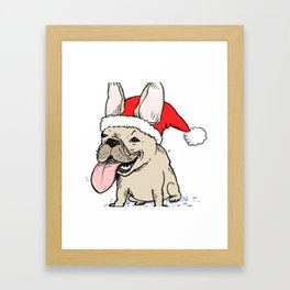 Awesome French Bulldog Christmas Shirt Framed Art Print