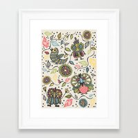woodland Framed Art Prints featuring Woodland by Sarah Doherty