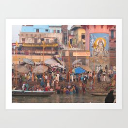 The Sacred Ganges River in India (2004c) Art Print
