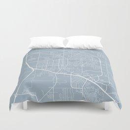 Denton Map, USA - Slate Duvet Cover