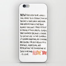 The Foundation of Such a Method Is Love iPhone & iPod Skin
