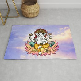 Ganesha in a Lotus Rug