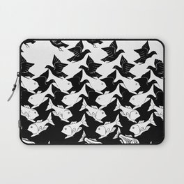 fish and birds tessellation art deco Laptop Sleeve