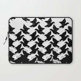 fish and birds tessellation art deco Laptop Sleeve