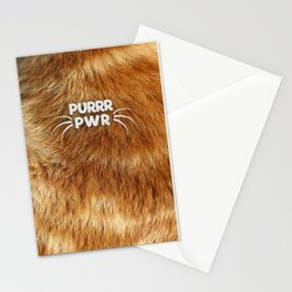 PURRR PWR Stationery Cards