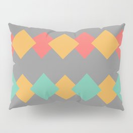 Minimal Abstract Lucite green, Coral, Grey, Honey, and White 05 Pillow Sham