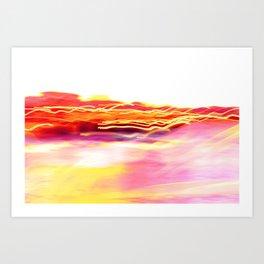 Harbour Lights at Sunset Art Print