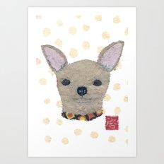 Chihuahua, Dog, Tan Chihuahua Art Print