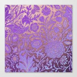 Wiiliam Morris revamped, art nouveau pattern Canvas Print
