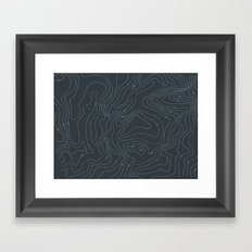 Contour Mapping v.3 Framed Art Print