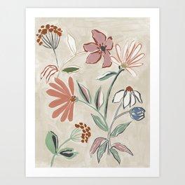 Monday Floral Art Print