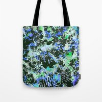 jay fleck Tote Bags featuring Crystal Fleck by Mia Felce