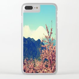Mountains & Flowers Landscape Clear iPhone Case