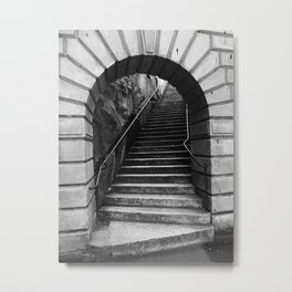 08 Black & White Arch Metal Print